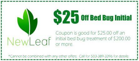 Portland Bed Bug Coupons